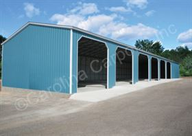 All Vertical, Fully Enclosed Triple Wide Garage with Side Entrys