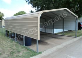 Regular Roof Style Carport with One Panel Each Side
