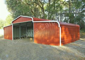 Regular Roof Style Horse Barn with Vertical Ends