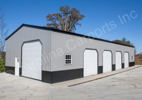 Vertical Deluxe Fully Enclosed Garage